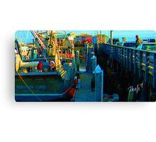 Northern Cloud - Monterey Boat Harbor, Monterey, CA Canvas Print