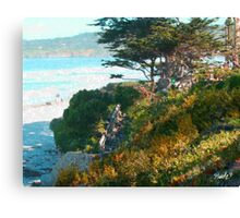 Beach Staircase - Carmel, CA Canvas Print