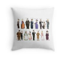 Downton Abbey portraits Throw Pillow