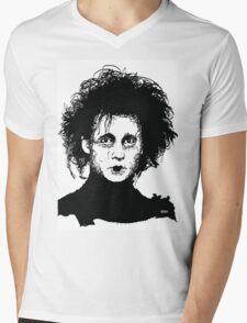Edward Scissorhands Mens V-Neck T-Shirt