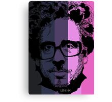 Tim Burton in stripy background! Canvas Print