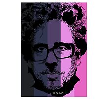 Tim Burton in stripy background! by burrotees