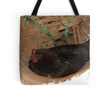 Nyoman's chicken in a basket Tote Bag