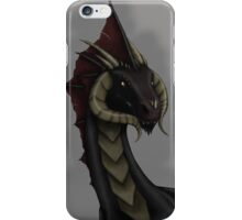 Black Dragon Bust iPhone Case/Skin