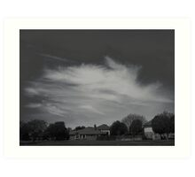 High Clouds Wispy Shapes #1 Art Print