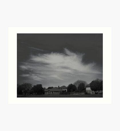 High Clouds Wispy Shapes #1 Art Print