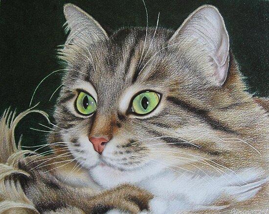 Kusia - lady with emerald eyes by lanadi
