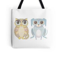 Cat and Lanky Dog Tote Bag