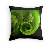 Spiral Leaf Throw Pillow