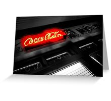 red neon ..... Greeting Card