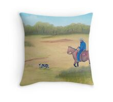 Morning Ride ~ Western Oil Painting Throw Pillow