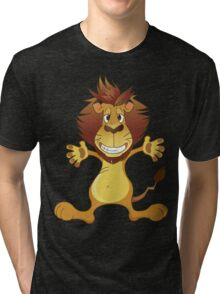 Friendly smiling lion Tri-blend T-Shirt
