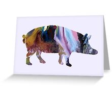Pig / Wild boar silhouette Greeting Card