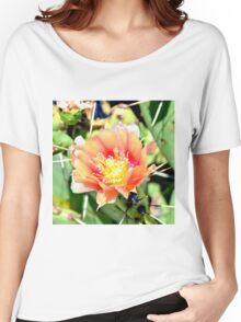 Cactus Flower Bloom Women's Relaxed Fit T-Shirt