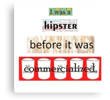 Hipster Commercialized Canvas Print
