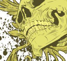 Sandfields on wax Skull Tshirt Sticker