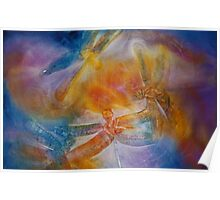 Watercolour: Dragonfly dance Poster