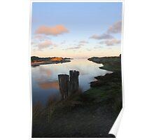 Sunset on the Coorong, River Murray, Goolwa, SA Poster