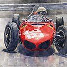Ferrari 156 Sharknose Phil Hill Monaco 1961 by Yuriy Shevchuk