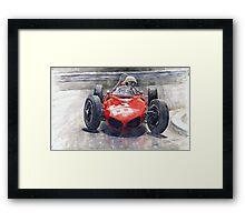 Ferrari 156 Sharknose Phil Hill Monaco 1961 Framed Print