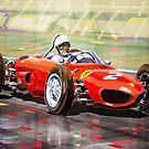 Ferrari 156 Dino British GP1962 Phil Hill by Yuriy Shevchuk