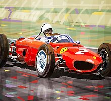 Ferrari 156 Dino British GP1962 Phil Hill by Yuriy Shevchuk