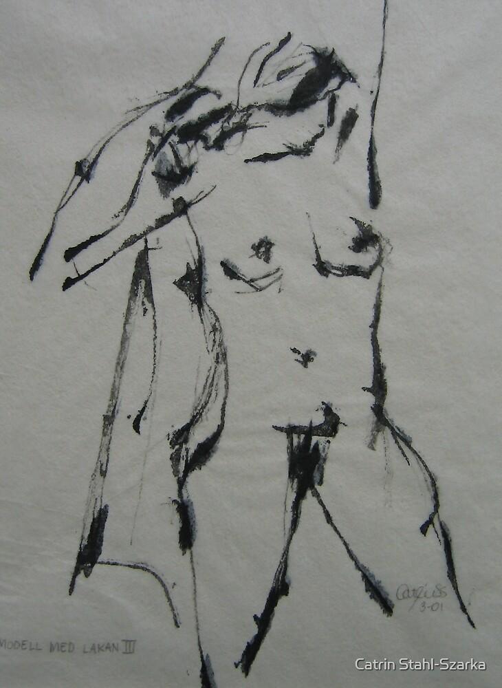 Model with a sheet by Catrin Stahl-Szarka