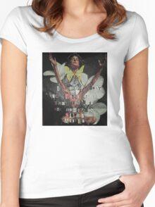I Awoke - Leonardo da Vinci (Wrapped) Women's Fitted Scoop T-Shirt