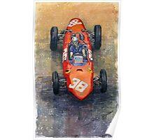 Ferrari Dino 156 1962 Monaco GP Poster