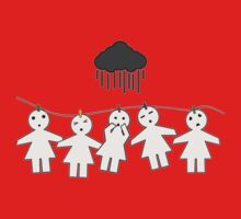 paper dolls are scared of the rain ! by Amanda  Cass