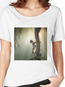 Baby Baboon in tree Women's Relaxed Fit T-Shirt