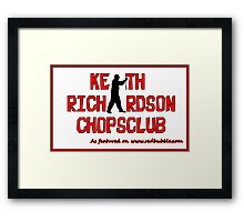 ChopsClub Logo on RedBubble Framed Print