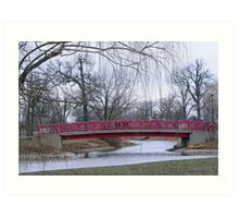 Bridge Amongst The Willows Art Print