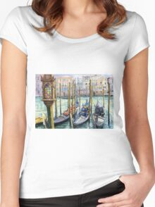 Italy Venice Lamp Women's Fitted Scoop T-Shirt
