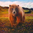 """High Meadow Grizzly"" by Charles  Wallis"