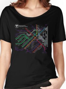 MBTA Boston Subway - The T Women's Relaxed Fit T-Shirt