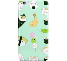 Kawaii Bento Box Print - Mint iPhone Case/Skin