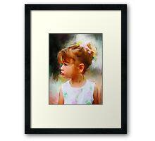 In Profile Framed Print