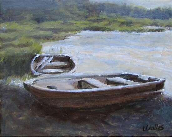 """""""The Pond Row Boat #1"""" by Charles  Wallis"""