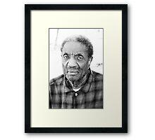 The face of wisdom  Framed Print