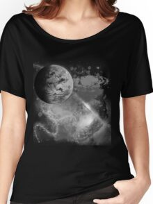 Space Scape Noir Women's Relaxed Fit T-Shirt