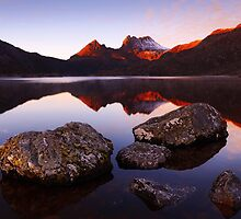 First Light on Cradle - Cradle Mountain N.P. by Mark Shean