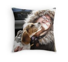Puppy Kisses Throw Pillow
