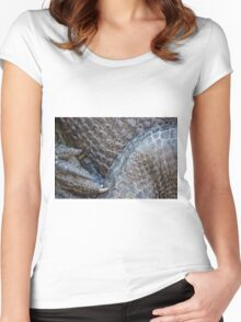 Gator Belly Hand Thigh Women's Fitted Scoop T-Shirt