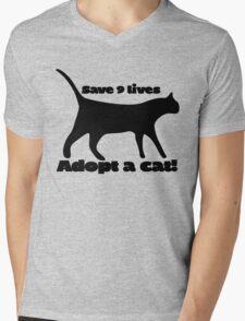 Save 9 lives adopt a cat Mens V-Neck T-Shirt