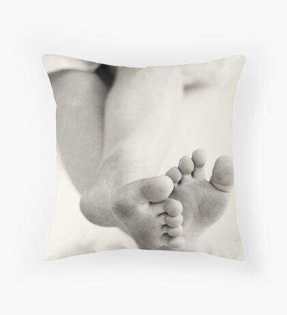 Barefoot Innocence Throw Pillow