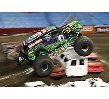 Grave Digger Flying High Photographic Print