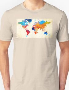 World Map 18 - Colorful Art By Sharon Cummings T-Shirt