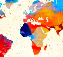 World Map 18 - Colorful Art By Sharon Cummings Sticker