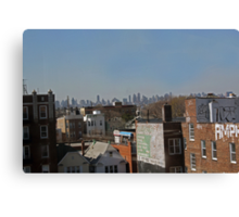Suburb And City Canvas Print